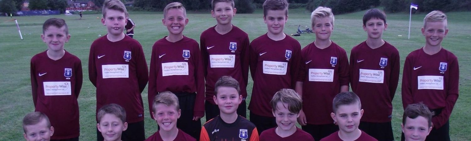Winsford United Colts Athletic U12's all kitted out for new football season